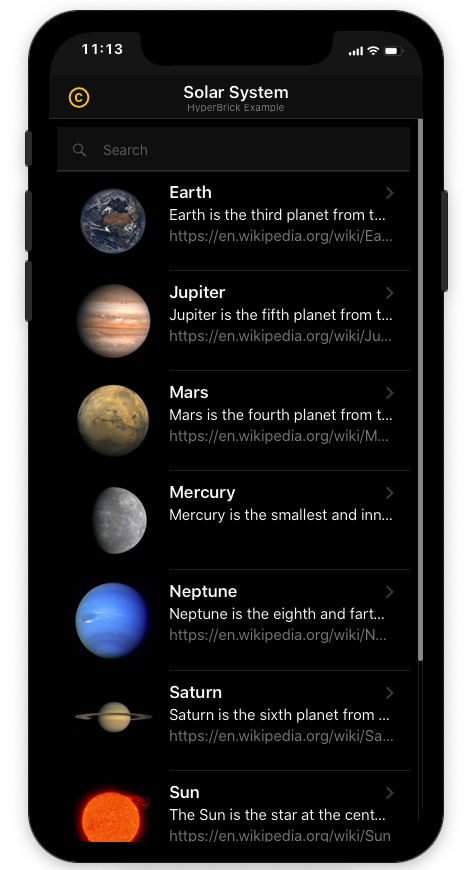 Thorium Builder PWA: Solar System Database