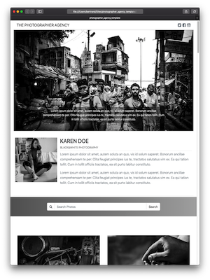 Thorium Builder Responsive Web Site: Photographer Agency