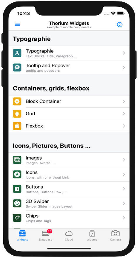 Thorium Builder PWA: PWA Components