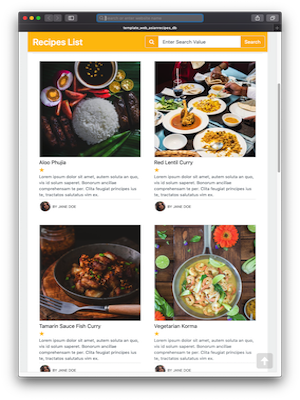 Thorium Builder Responsive Web Site: Asian Cuisine