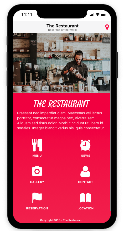 Thorium Builder PWA: Restaurant